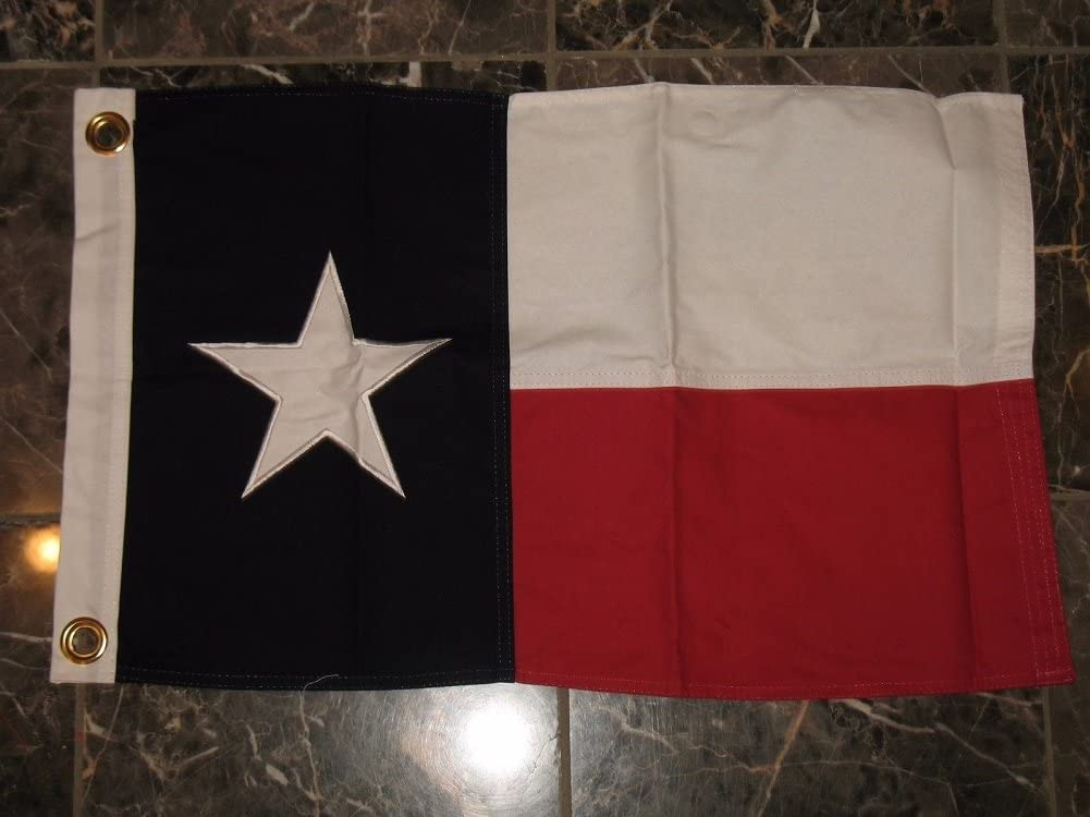 16 x 24 bordado cosido bandera de Estado de Texas Algodón 16