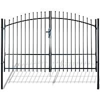vidaXL Portal puerta doble surmontã © de palillos