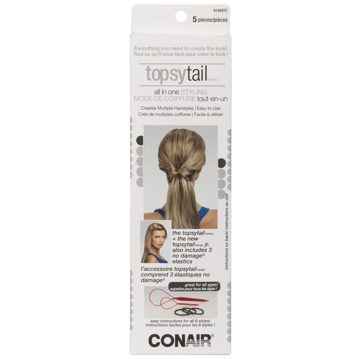 Conair 91459tc Topsy Tail, 1 Count Conair Consumer Products ULC