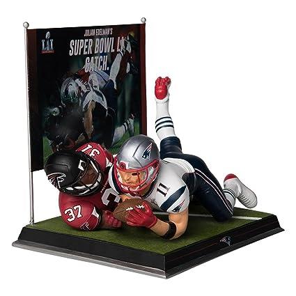 New England Patriots 2018 Super Bowl Brady Mcfarlane Figure 6 Ring Display Case Autographs-original