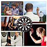 Ylovetoys Safety Dart Board Set for Kids, 16.4 inch Rubber Dart Board with 9 Soft Tip Safety Darts Great Game for Office and Family Leisure Sport