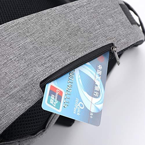 Tempo Bello Usb Il Messenger Libero Porta Con A Oxford Da E Grandi Zaino Ricarica Casual Dimensioni Squisito grigio Petto Di Bag Uomo Per Tracolla Z7Zwrq