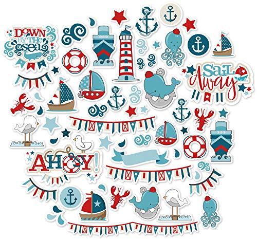 - Paper Die Cuts - Sail Away - Over 60 Cardstock Scrapbook Die Cuts - by Miss Kate Cuttables