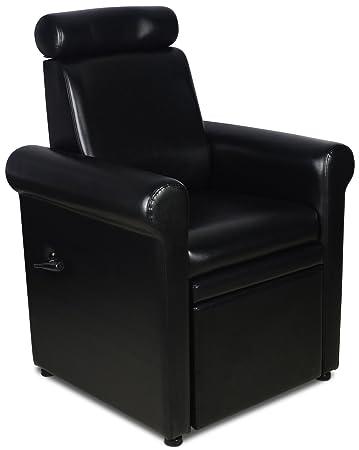 Icarusu0026quot;Crestu0026quot; Black Pedicure Foot Spa Station Chair