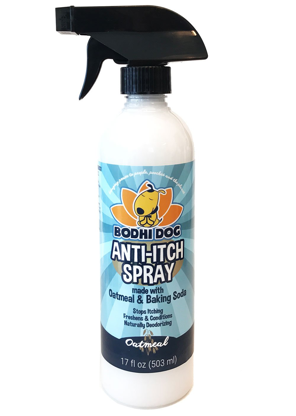 NEW Anti Itch Oatmeal Spray for Dogs and Cats | 100% All Natural Hypoallergenic Soothing Relief for Dry, Itchy, Bitten or Allergic Damaged Skin | Vet and Pet Approved Treatment - 1 Bottle 17oz (503ml)