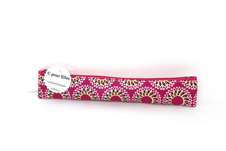 Trousse brosse /à dents mandala rose