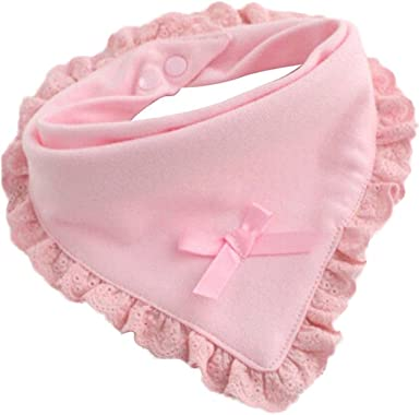 Newborn Toddler Infant Baby Girl Kids Bibs Cotton Saliva Floral Towel