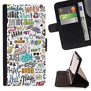 Jordan Colourful Shop - writing fun art hand drawn For Apple Iphone 5 / 5S - Leather Case Absorci???¡¯???€????€?????????&A