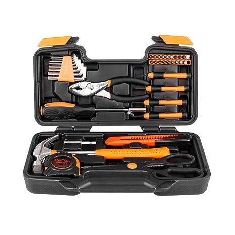 39pcs Tool Kit, Home Repair Kit, Basic Tool Set Removal Tool ...