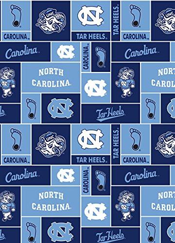College University of North Carolina Tar Heels 012 Print Fleece Fabric By the Yard ()