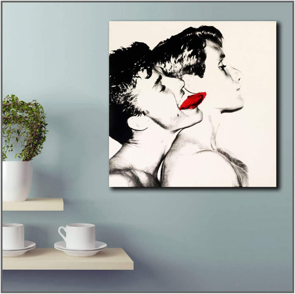 Lanruru Zusammenfassung Andy Warhol Querelle Wandkunst Bilder f/ür Wohnzimmer Wohnkultur Leinwand /Ölgem/älde Gedruckt 60X60Cm Kein Rahmen 1 Stck