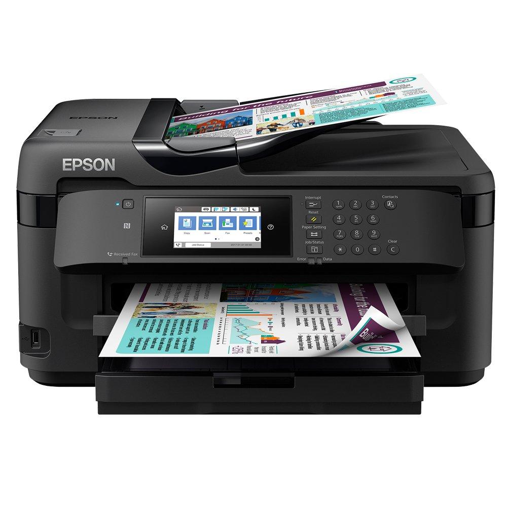Epson Workforce WF-7710DWF Inyecció n de Tinta 32 ppm 4800 x 2400 dpi A3 WiFi - Impresora multifunció n (Inyecció n de Tinta, Impresió n a Color, 4800 x 2400 dpi, A3, Impresió n Directa, Negro) Impresión a Color WF - 7710