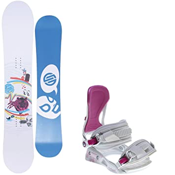 517d26a87666 Santa Cruz Suave Eyes 147 Womens Snowboard + Avalanche Serenity White  Bindings - Fits Boot Sizes