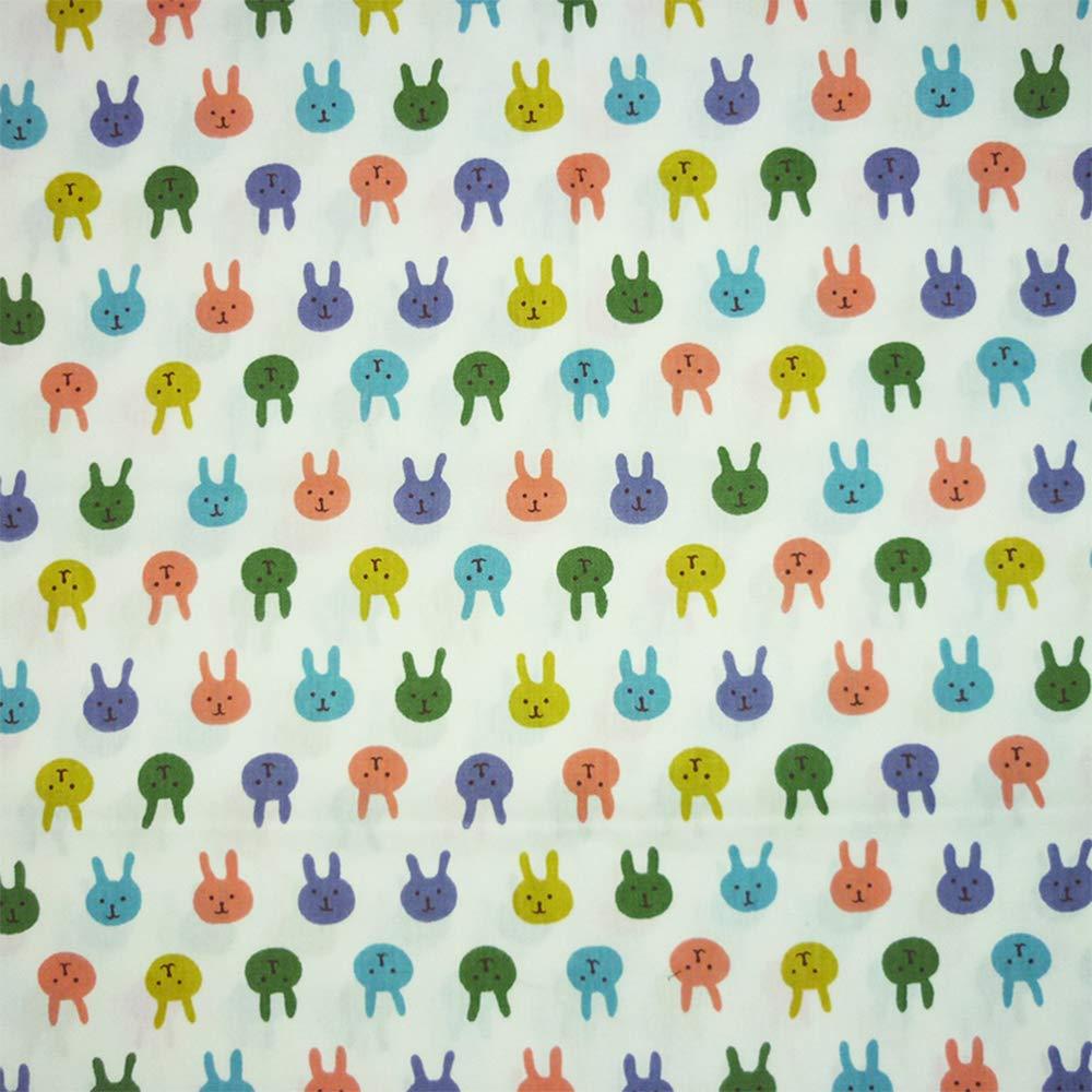 telas tilda 2 piezas 50 cm * 160 cm conejos tela de algod/ón impreso para patchwork,telas para hacer patchwork tela algodon por metros retales de telas