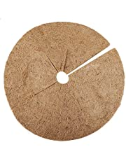 Nuxn 3PCS Coconut Fibers Mulch Ring Tree Protector Mat Coco Coir Fiber Tree Rings for Weed Control Coco Liner Mulch Mat for Plants Trees