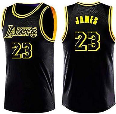 Camiseta de Baloncesto para Hombre, Los Angeles Lakers #23 James. Bordado Swingman Transpirable y Resistente al Desgaste Camiseta para Fan (Black, S): Amazon.es: Ropa y accesorios
