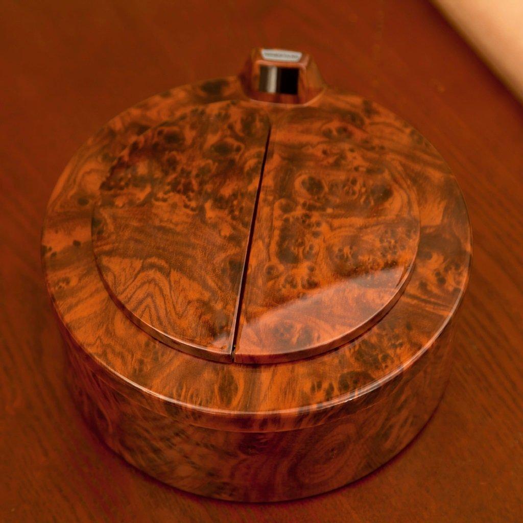 Jlxl Smart Sensor Trash Mini Desktop Storage Tube Peach Wood Trash by Jlxl (Image #4)