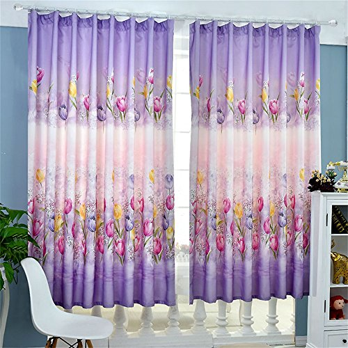 TIANTA- A Set Of 2 Pcs Bedroom Living Room Balcony Thickening Shading Imitation Cotton Linen Curtain Double-sided Pattern Simple Modern Finished Product decorate ( Size : 1.92m (widthheight) ) by WEEDAY