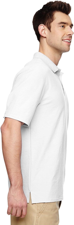 G728 Double Piqu/é Sport Shirt Gildan Mens DryBlend 6.3 oz -WHITE -XL-12PK
