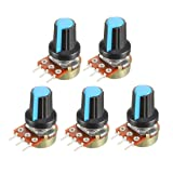 uxcell 5Pcs 5K Ohm Variable Resistors Single Turn