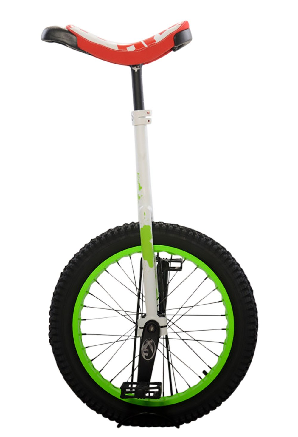 Koxx Troll2 20 Trials Unicycle, Red/White with Green Rims and Black Pedals by Koxx