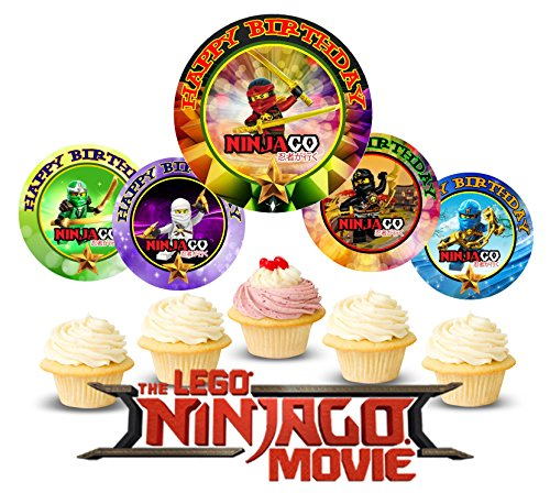 12 Cake Cupcake Ring - 12 The NINJAGO MOVIE Birthday Inspired Party Picks, Cupcake Picks, Cupcake Toppers #1
