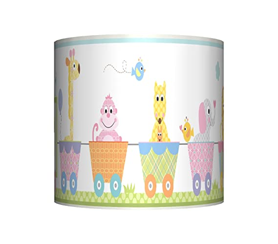 Animal circus train ceiling lampshade 10 drum baby boys animal circus train ceiling lampshade 10quot drum baby boys girls bedroom aloadofball Choice Image