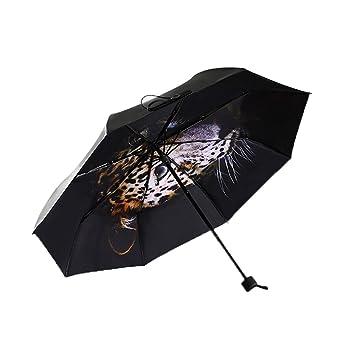 GAOYANG Sombrilla Plegable De Dos Lados Paraguas De Hombres Y Mujeres Sombrilla De Vinilo Paraguas Negro Paraguas Transparente (Color : Jaguar): Amazon.es: ...