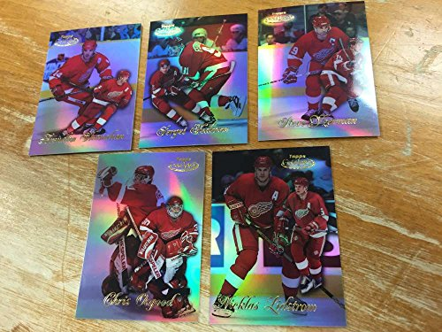 Topps Label Gold 1998 (1998-99 Topps Gold Label Class 1 Detroit Red Wings Team Set 5 Cards Steve Yzerman)