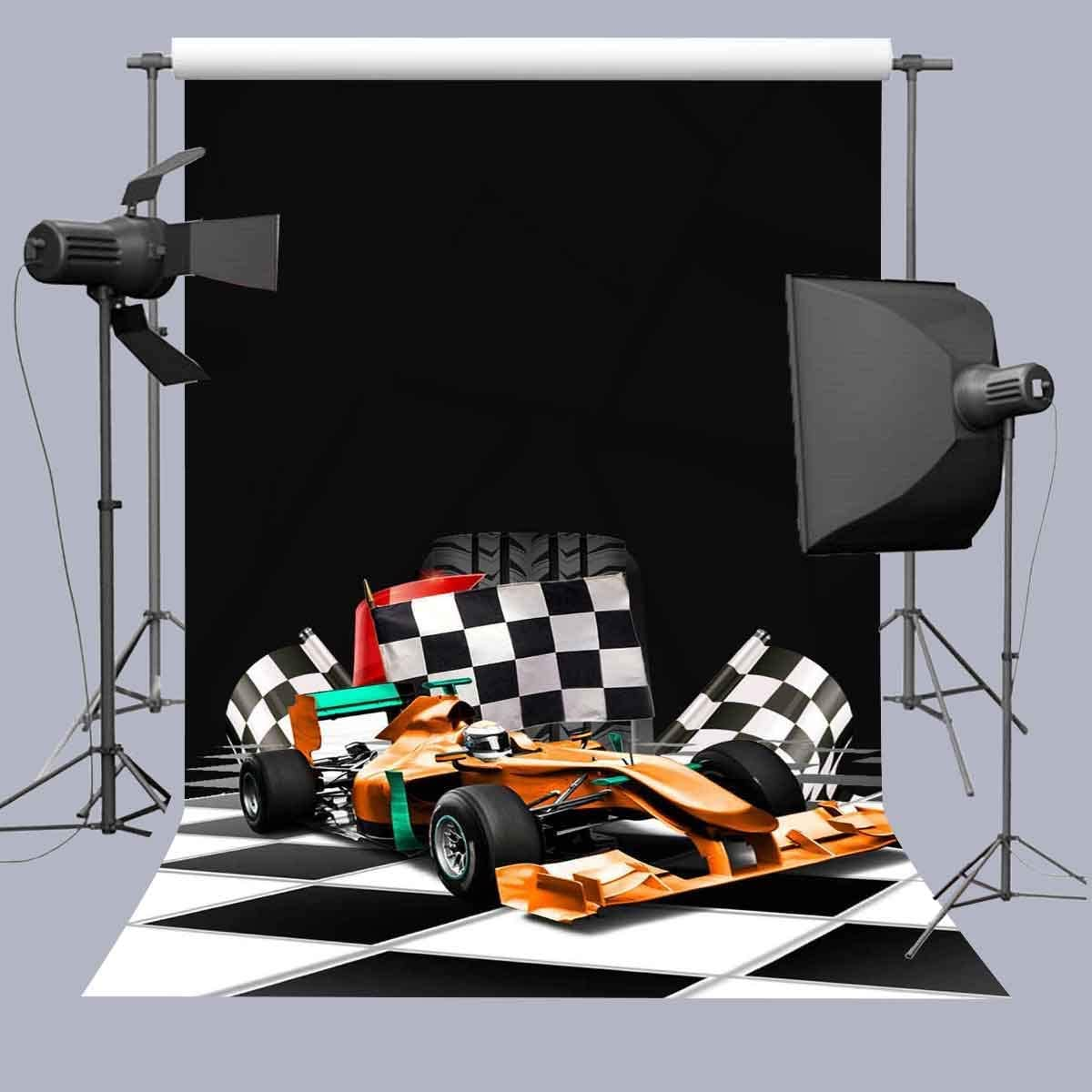 8x10ft Background Racing Car Photography Backdrop Studio Photo Props GEFU1209