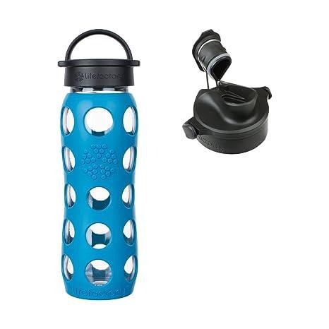 d98726b2843 Amazon.com   Lifefactory 22 oz Teal Lake Glass Bottle Core 2.0 with ...