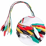 50 Pcs Alligator Clip Test Leads Set with Alligator Clips Insulated Test Cable Double-ended Clips 50cm/19.7 Inch Jumper Wire
