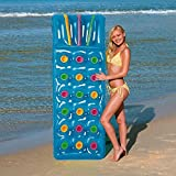 Bestway Inflatable 18 Pocket Fashion Sun Lounger Lilo Swimming Pool Air Bed Beach Mat 2 Colours : Pink Or Blue (Blue)