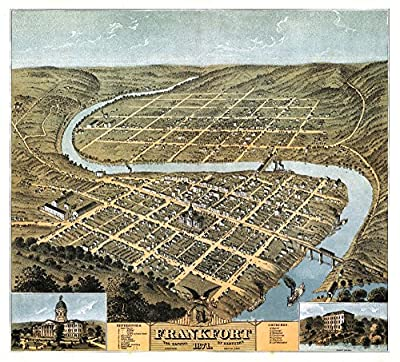 Frankfort, Kentucky - Panoramic Map