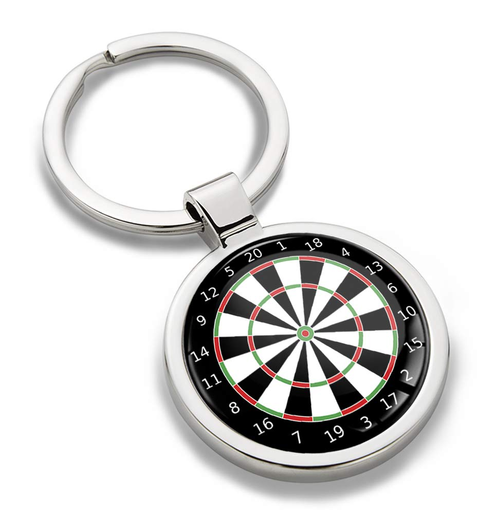 3D Metal Sports Game Darts Dartboard Target Keyring Key Chain Gift Men Women Keychain Giftbox KK 197