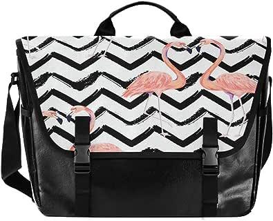 Bolso de lona para hombre y mujer, diseño de cisne a rayas, color rosa