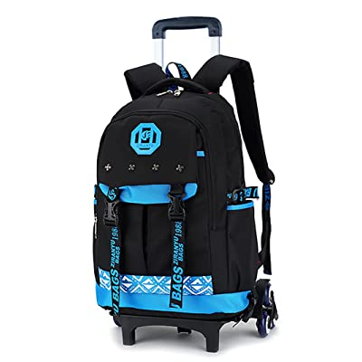 Meetbelify Kids Rolling Backpacks Luggage Six Wheels Unisex Trolley School Bags Blue … | Kids' Backpacks