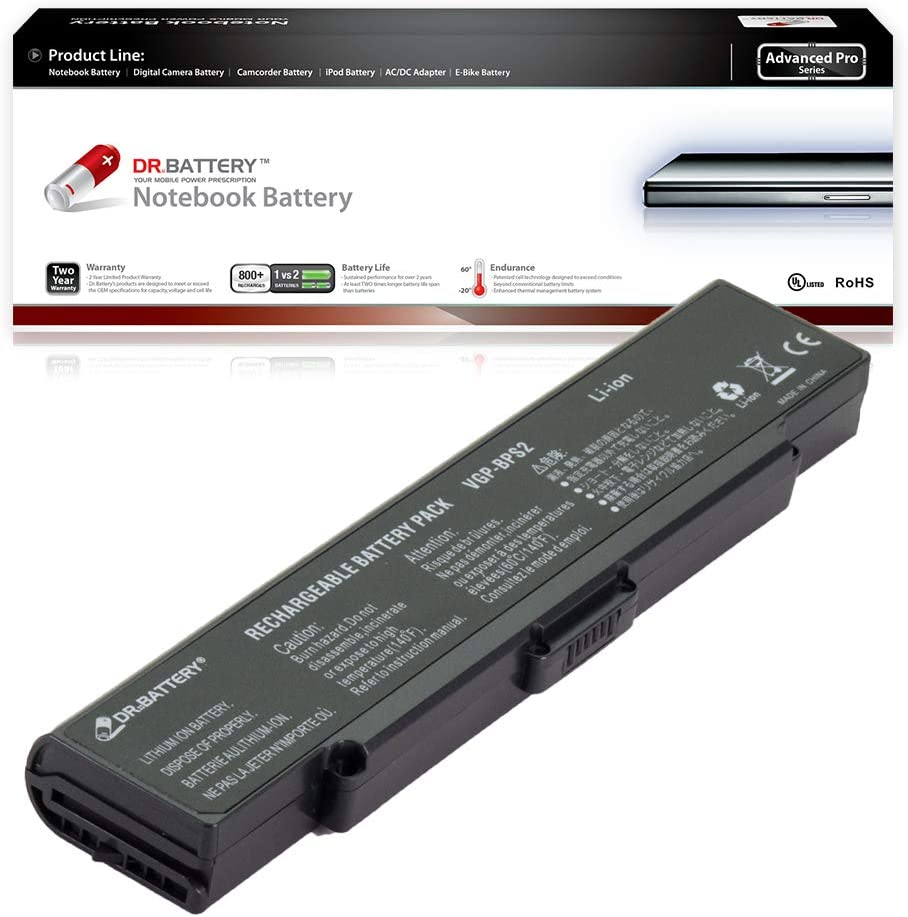 Dr. Battery - Korean SDI Cell for Sony VAIO PCG-6D1L / PCG-6Q1L / PCG-7F1L / PCG-7G2L / PCG-7N2L / PCG-7R2L / PCG-7T1L / PCG-7Y2L / VGN-N320E / VGN-S/VGP-BPS2 / VGP-BPS2A / VGP-BPS2B / VGP-BPS2C