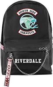 Adonisaon Riverdale South Side Serpents Backpack School Bag Laptop Backpack Cool Zip Backpack