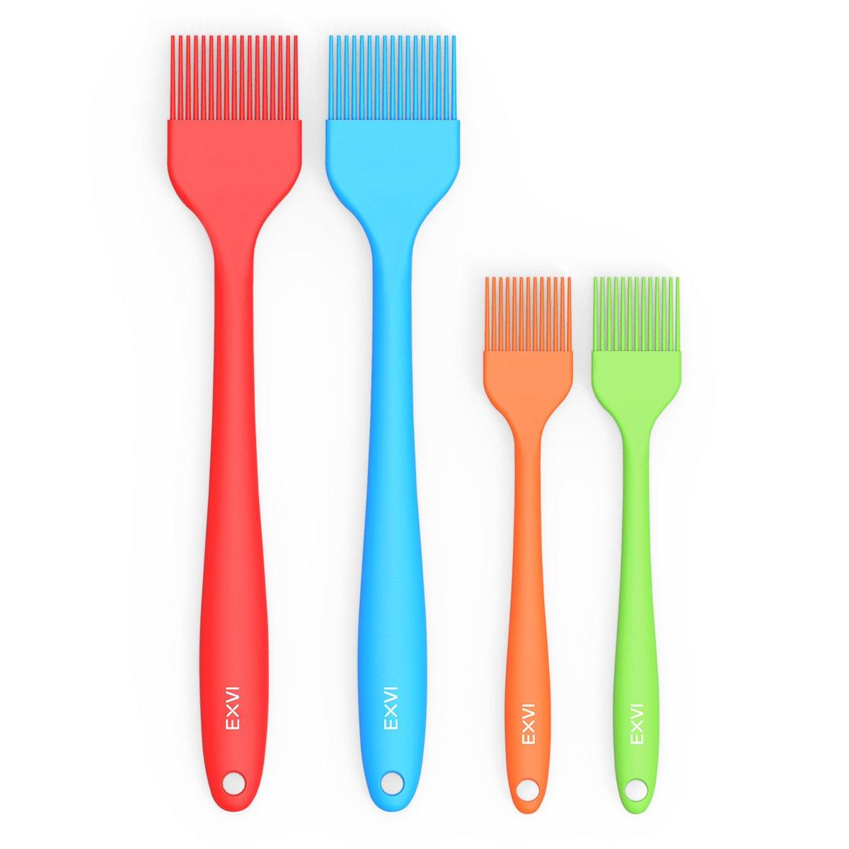 exvi 4-set Silicone Pastry Brush 2x 8 inch & 2x 10 inch COMIN18JU081930 B01M4Q6YIZ   2x 8 inch & 2x 10 inch