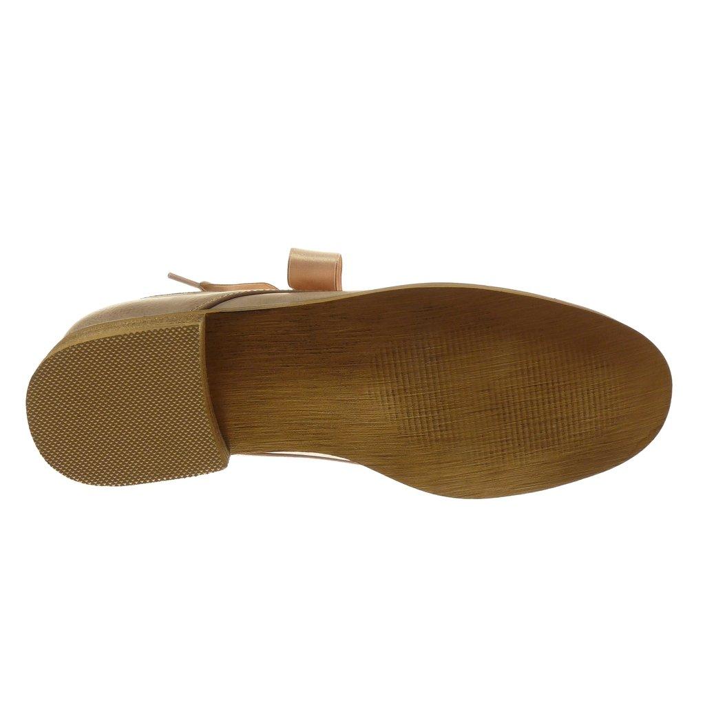 Angkorly Scarpe Moda Scarpa Derby Donna Lacci in Raso Catena Tacco a Blocco  2.5 cm f0f16d9b7aa