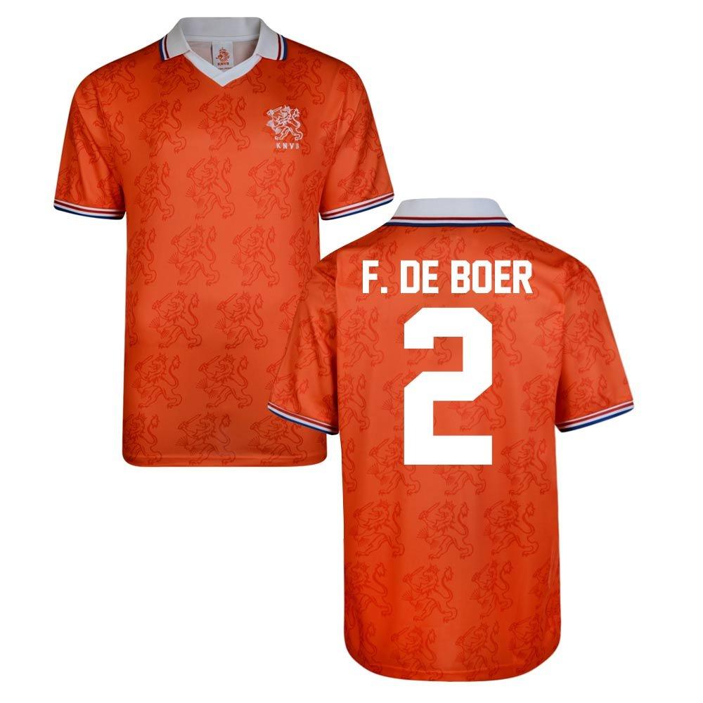 Score Draw Holland World Cup 1994 Home Shirt (F De Boer 2) B076D6V1V5Orange XXL Adults