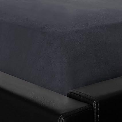 G Bettwarenshop Biber Spannbettlaken Grau 120x200 Cm