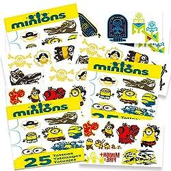 Minions Temporary Tattoos Party Favor Set (75 Temporary Tattoos)