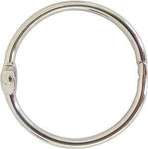 Book Binder Rings 2 Inch Office Loose Leaf Ring(20 Pack) Nickel Plated Silver