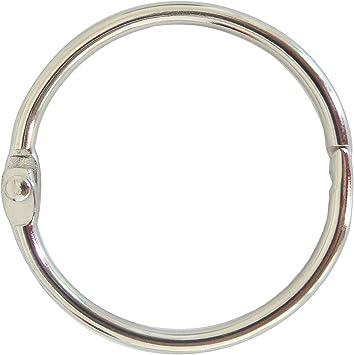 Office Heavy Duty Key Rings Large Book Rings Home 2 Inches Diameter for School 150-Pack Loose Leaf Rings Silver Binder Rings Notebook Rings