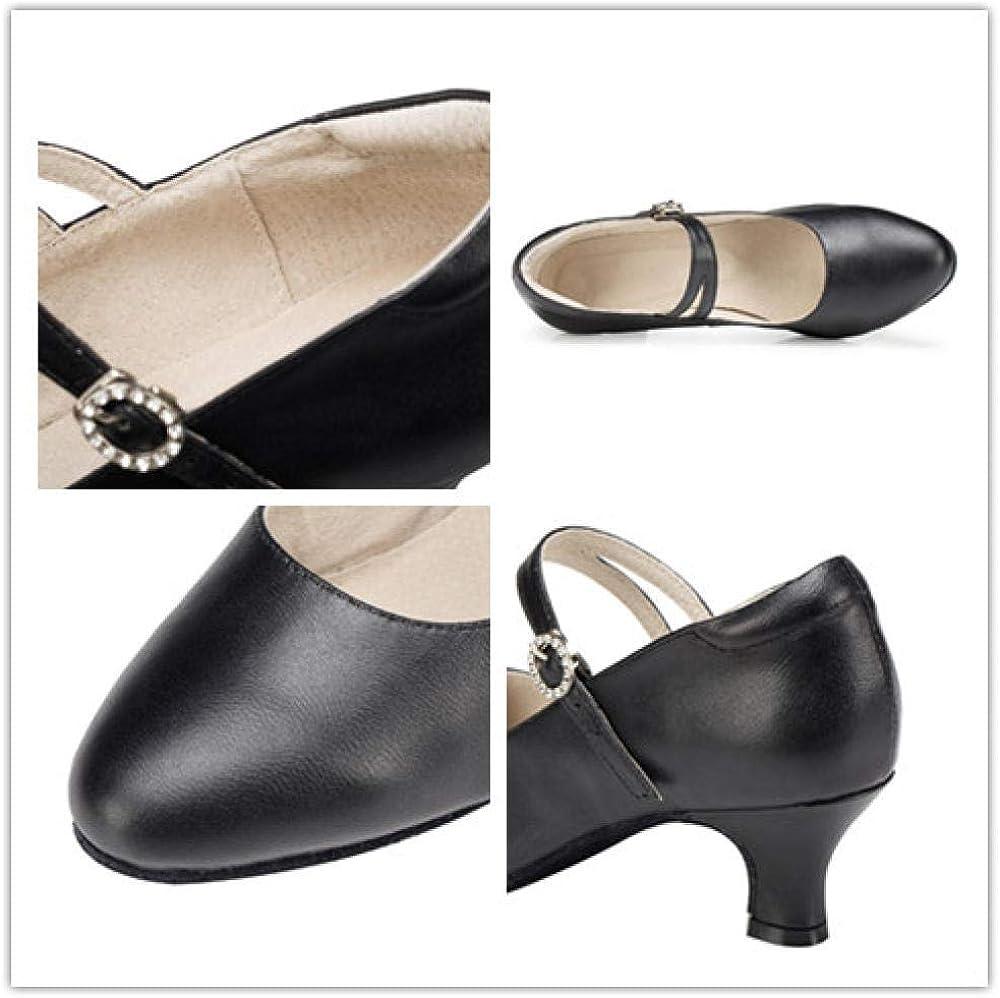 Femmes Ballroom/Latin/Standard Dance Chaussures Sandales Femmes Closed Toe Shoes Noir 8 5cm Stiletto Heels Indoor