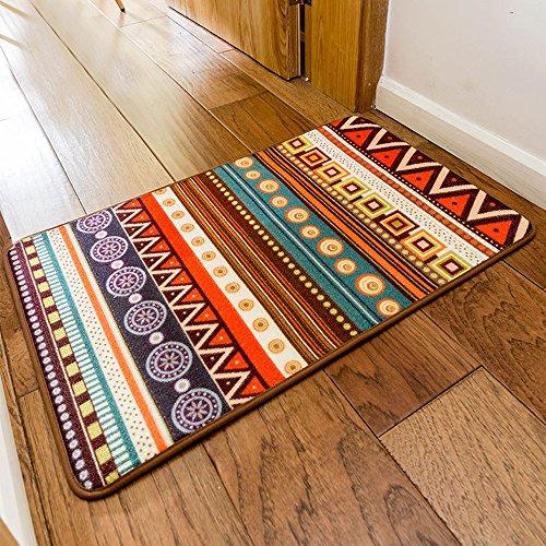 SimpleLife4U Colorful Bohemia Style Welcome Doormat Bathroom Bedroom Kitchen Floor Comfor Mat by SimpleLife4U