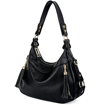 394e9004c436 Buy UTO Women Handbag PU Leather Purse Hobo Style Shoulder Bag Black Online  at Low Prices in India - Amazon.in