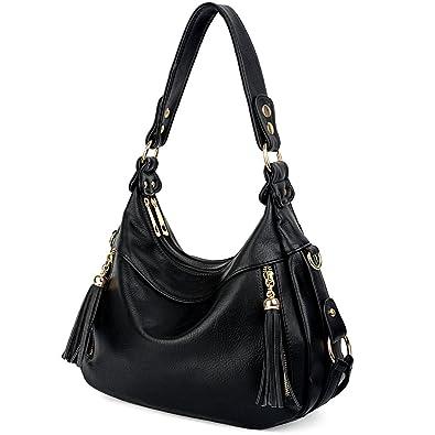 2871d9308c3d Amazon.com  UTO Women Handbag PU Leather Purse Hobo Style Shoulder Bag Black   Shoes